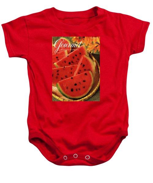 A Gourmet Cover Of Watermelon Sorbet Baby Onesie
