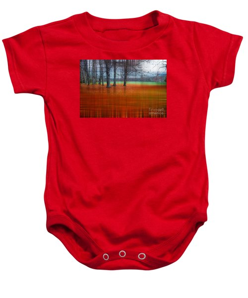 abstract atumn II Baby Onesie