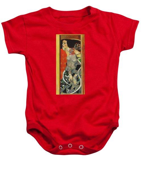 After Gustav Klimt Baby Onesie