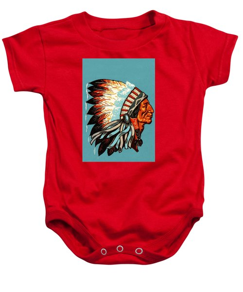 American Indian Chief Profile Baby Onesie