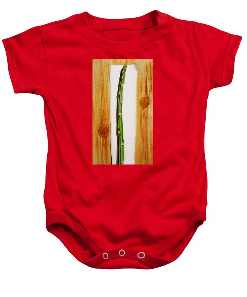 Asparagus Tasty Botanical Study Baby Onesie
