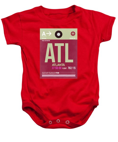 Atlanta Airport Poster 2 Baby Onesie