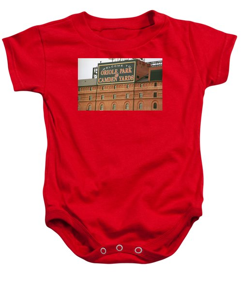 Baltimore Orioles Park At Camden Yards Baby Onesie