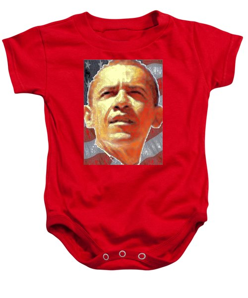 Barack Obama Portrait - American President 2008-2016 Baby Onesie