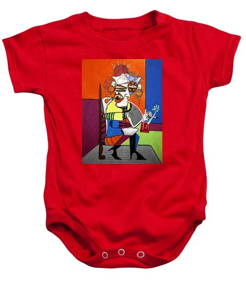 Bloody Mary Let The Dead Bury The Dead Baby Onesie by Anthony Falbo