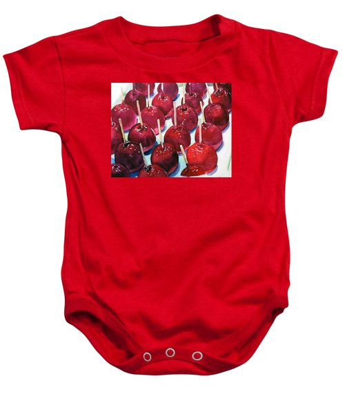Candy Apples Baby Onesie