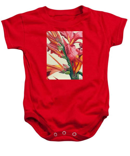 Canna Lily Baby Onesie