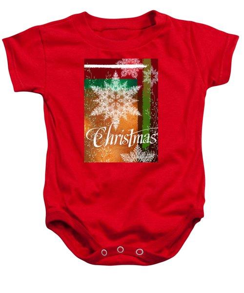 Christmas Greetings Baby Onesie