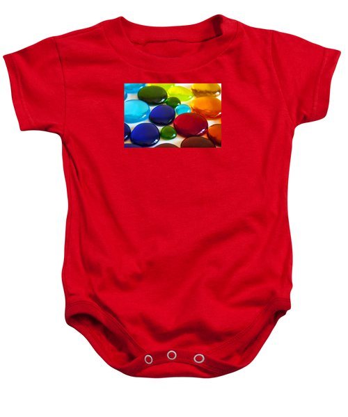 Circles Of Color Baby Onesie