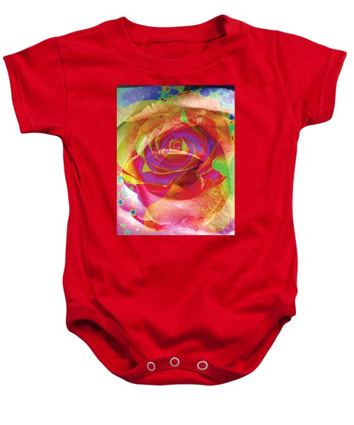 Colorfull Rose Baby Onesie