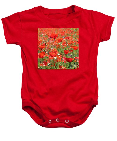Commemorative Poppies Baby Onesie