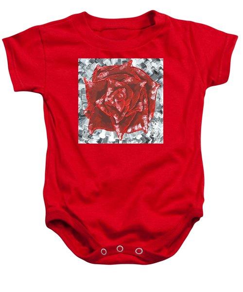 Concrete Rose  Baby Onesie
