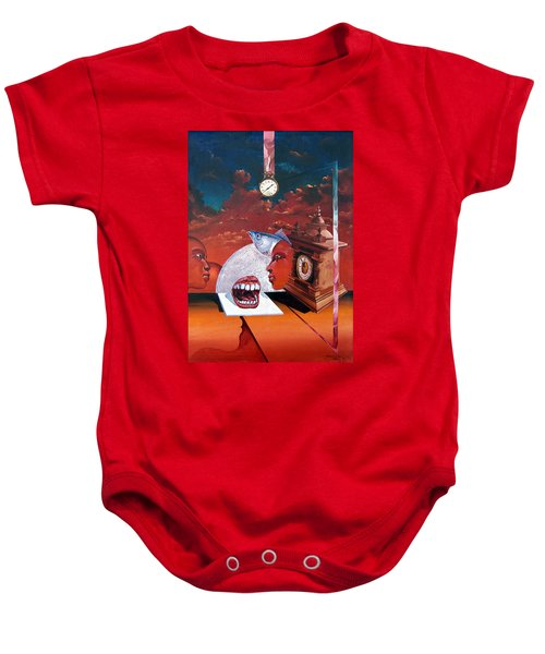 Consumption Of Time  Baby Onesie