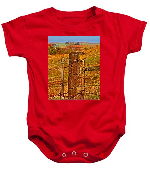 Corner Post At Gate Baby Onesie