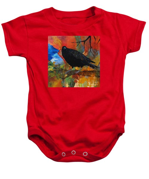 Crow On A Branch Baby Onesie