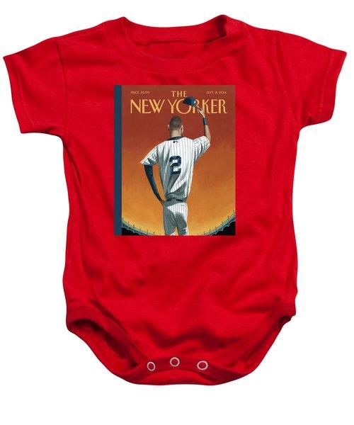 Derek Jeter Bows Baby Onesie
