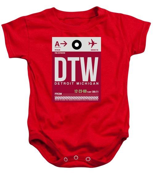 Detroit Airport Poster 2 Baby Onesie