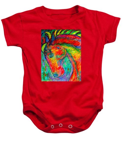 Baby Onesie featuring the painting Dream Horse by Kendall Kessler