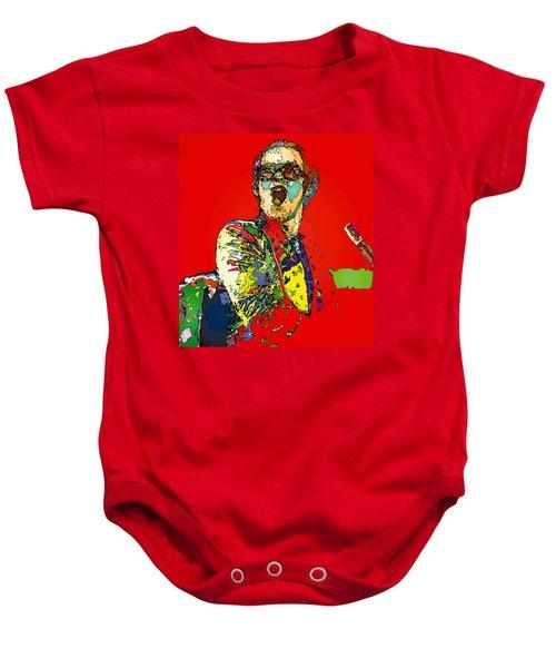 Elton In Red Baby Onesie by John Farr