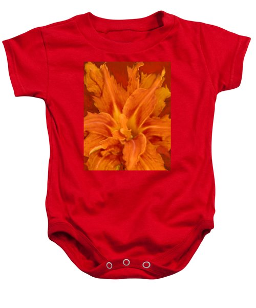 Fire Lily Baby Onesie