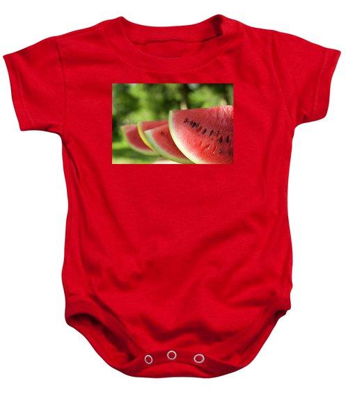 Four Slices Of Watermelon Baby Onesie