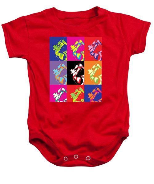 Freddie Mercury Pop Art Baby Onesie