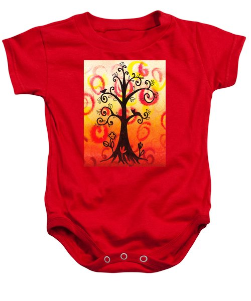 Fun Tree Of Life Impression V Baby Onesie