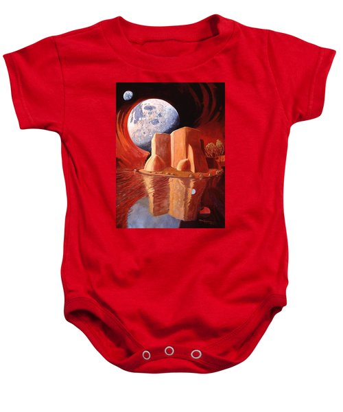 God Is In The Moon Baby Onesie