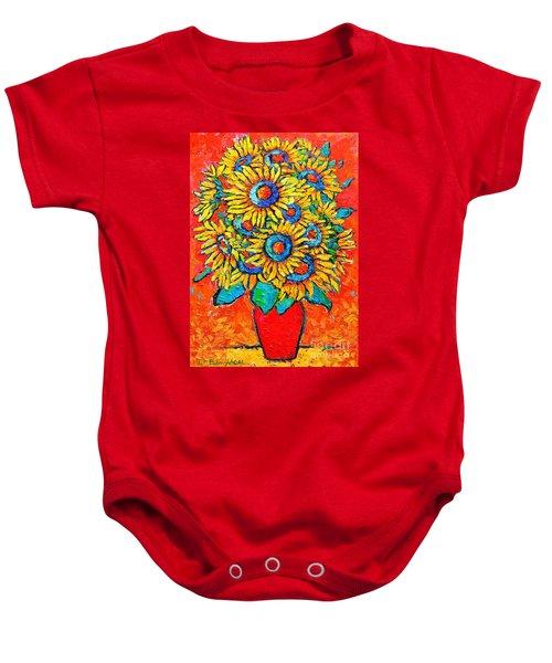 Happy Sunflowers Baby Onesie