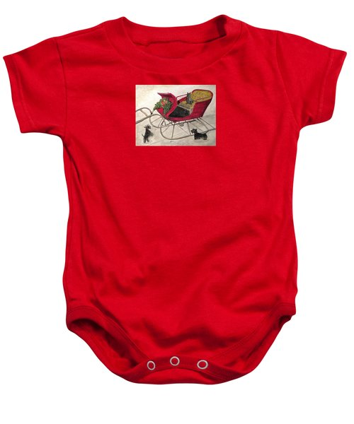 Hoping For A Sleigh Ride Baby Onesie