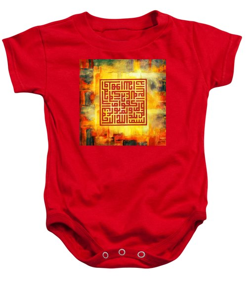 Islamic Calligraphy 016 Baby Onesie by Catf