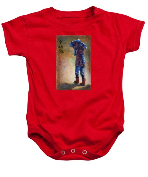 Lucky Red Boots Baby Onesie