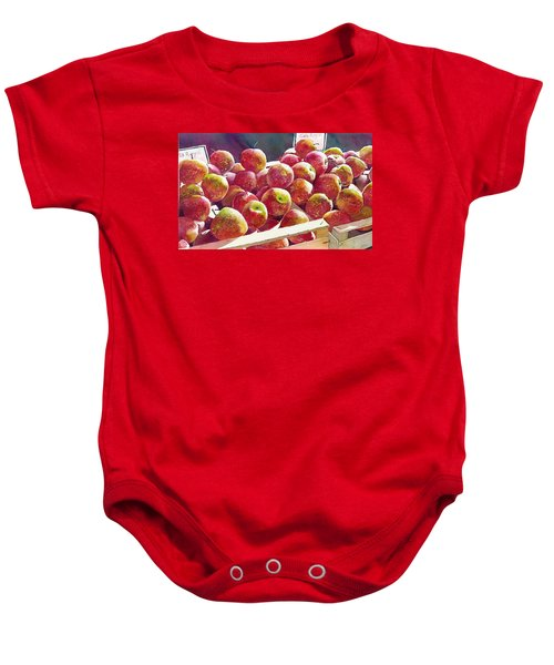 Market Apples Baby Onesie