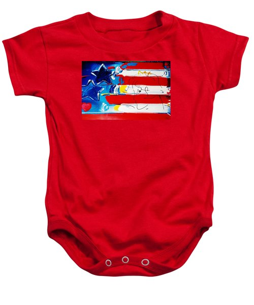 Max Stars And Stripes Baby Onesie