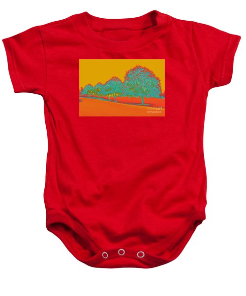 Neon Trees In The Fall Baby Onesie