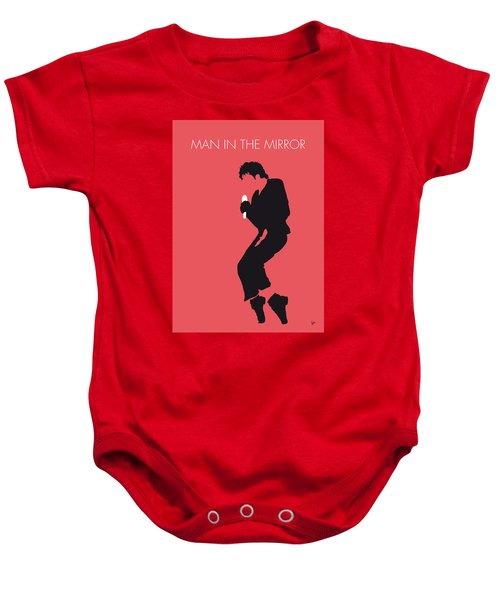 No032 My Michael Jackson Minimal Music Poster Baby Onesie by Chungkong Art