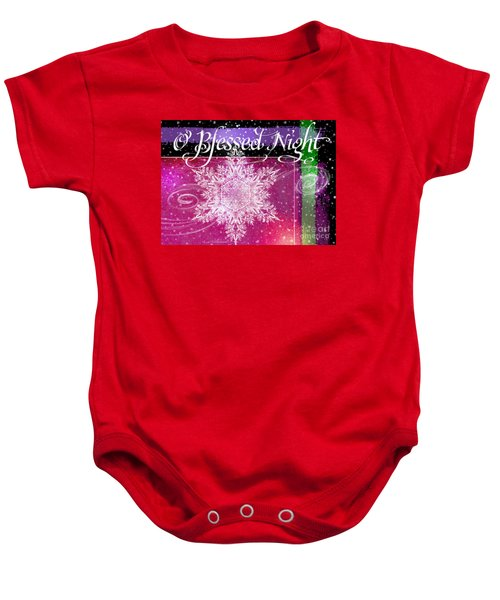 O Blessed Night Greeting Baby Onesie