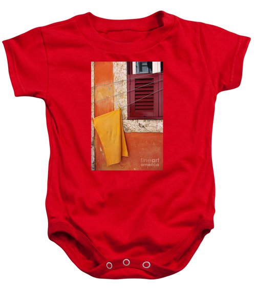 Orange Cloth  Baby Onesie