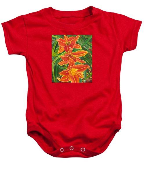 Orange Lilies Baby Onesie