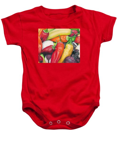 Peppers And Onions Baby Onesie