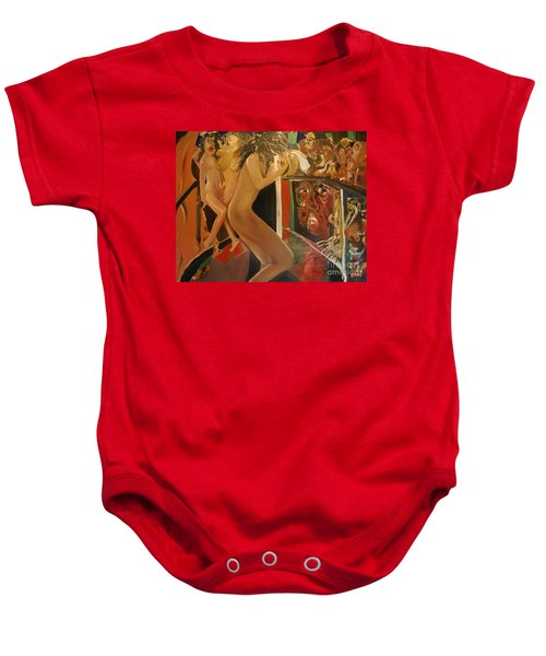 Pole Dancers And Their Admirers Baby Onesie