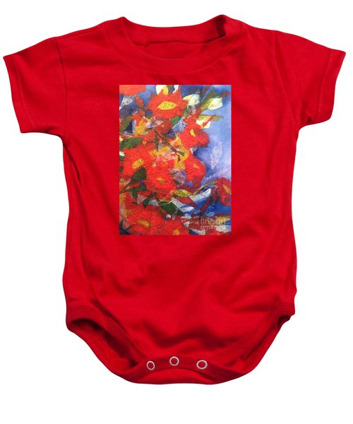 Poppies Gone Wild Baby Onesie