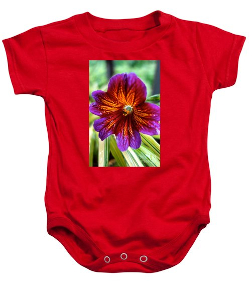 Purple And Orange Baby Onesie