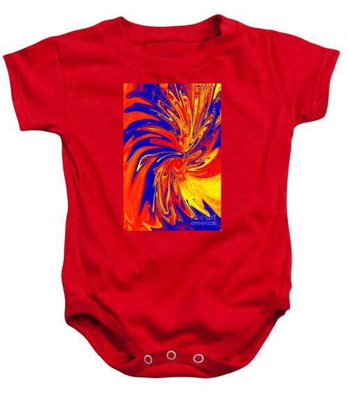 Red Blue Orange Red Yellow Swirl Baby Onesie