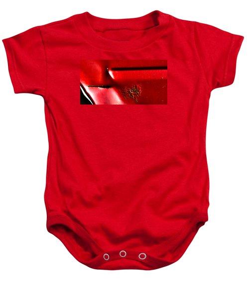 Red Gash Baby Onesie