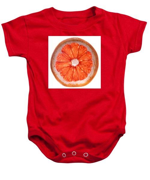 Red Grapefruit Baby Onesie by Steve Gadomski