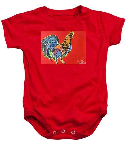Red Rooster Baby Onesie