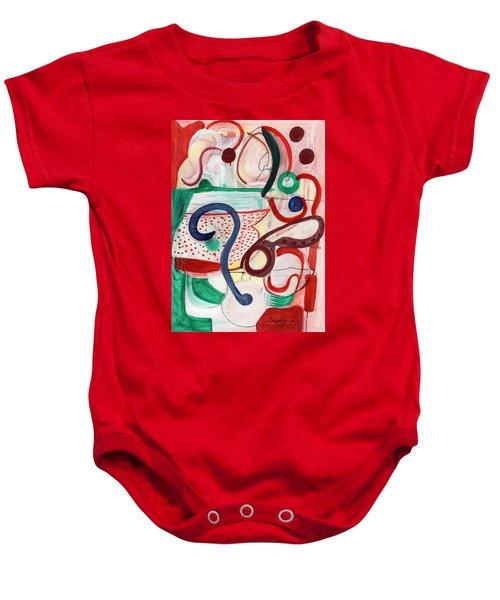 Reflective #6 Baby Onesie