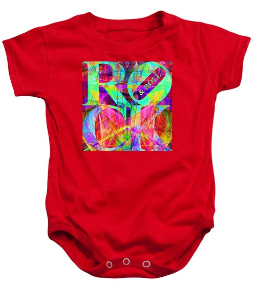 Rock And Roll 20130708 Fractal Baby Onesie
