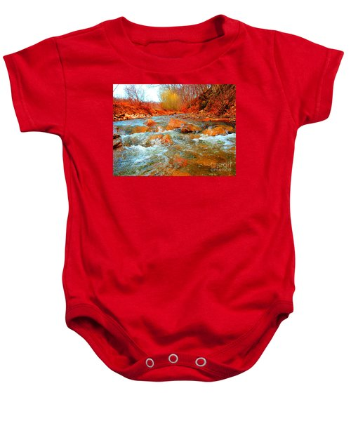 Running Creek 2 By Christopher Shellhammer Baby Onesie